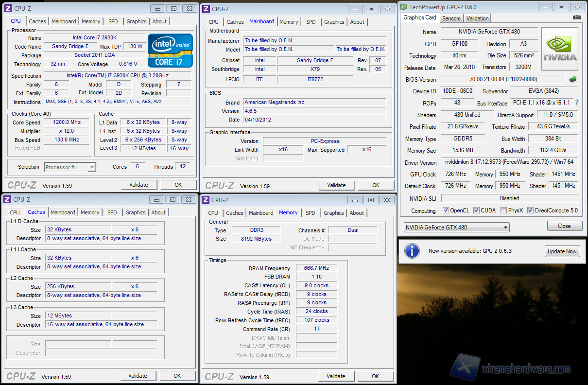 SCREEN CPU Z GPUZ